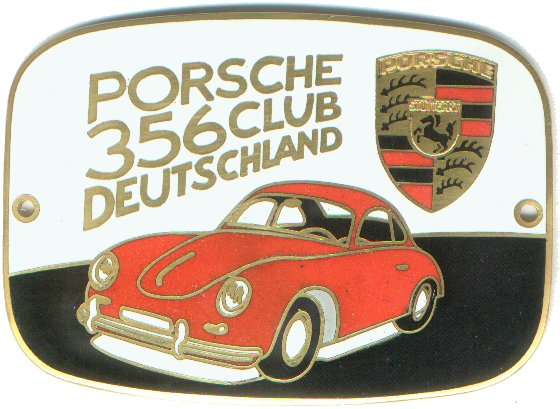 Authentic German Car Badges Porsche Corner